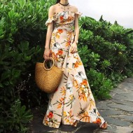 Vestido camponesa alça babados Ref 521