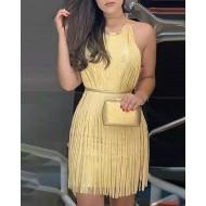 Vestido de festa de fios dourado Ref 1060