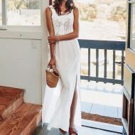 Vestido de praia crochê off white Ref 513