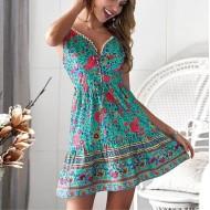 Vestido rodado floral promoção Ref 490
