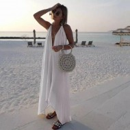 Vestido chiffon moda praia luxo Ref 487