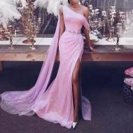 Vestido de festa longo rosa Madrinhas e Formatura Ref 1468
