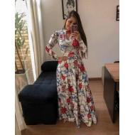 Vestido longo floral super promoção Ref 1364