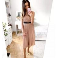 Vestido plissado moda feminina 2020 Ref 1606
