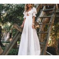 Vestido branco longo pré wedding Ref 1714