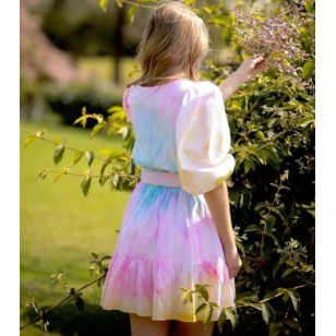 Vestido Juliette BBB estampa degradê Tie Dye Ref 2775