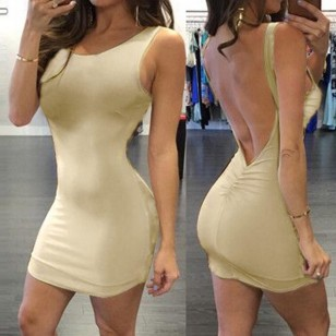 Vestido baladinha costas aberta cintura push up Ref 2147