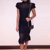 Vestido tendência boutique crochê 2021 Ref 1906