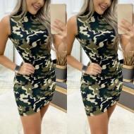 Vestido camuflado exército militar feminino Ref 2208