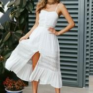 Vestido branco com renda Réveillon 2021 Ref 2462