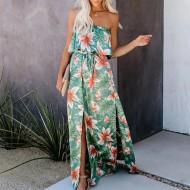 Vestido tomara que caia longo estampa floral Ref 2992