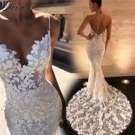 Vestido de noiva barato estilo sereia Ref 3033