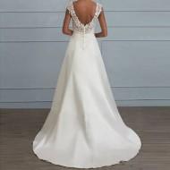 Vestido de noiva longo branco simples Ref 3229