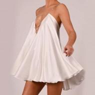 Vestido de Ano Novo Réveillon rodado curto Ref 3280