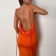 Vestido neon costas abertas Ref 3279