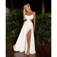 Vestido branco noite de réveillon Ref 3083