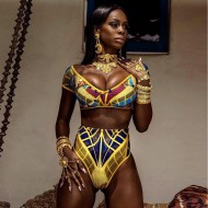 Biquíni africana estampa afro fashion Bahia étnico Ref 2701