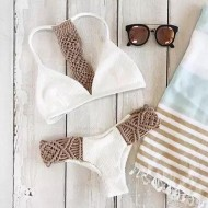 Biquíni moda praia branco offwhite Ref 307